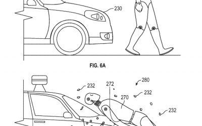 Google Invents Sticky Autonomous Car Layer to Protect Pedestrians