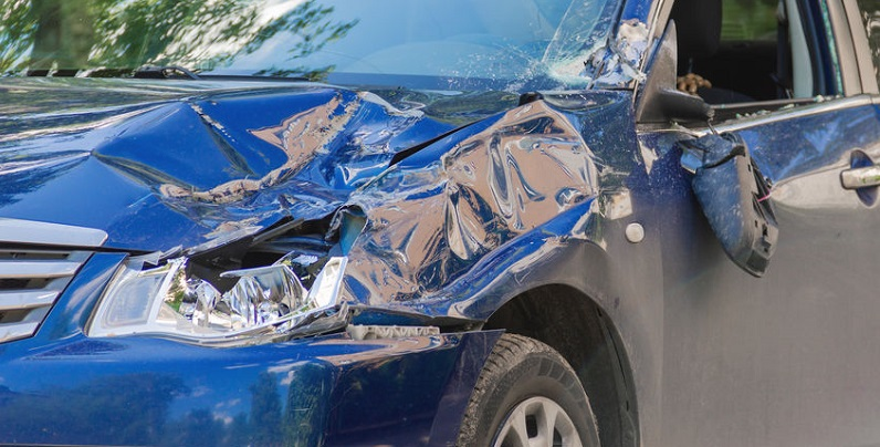 Damaged Car Following Car Accident