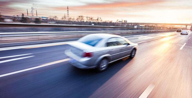 Car Speeding Down Colorado Highway